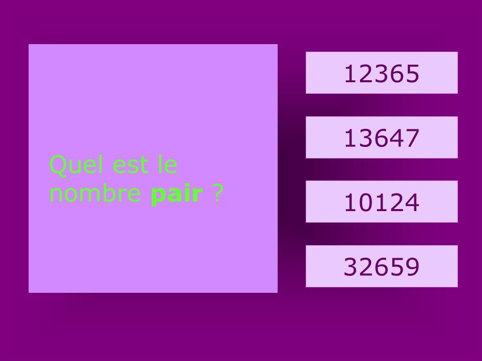 8. barque 1212 1031 2144 1234 Quel est le nombre impair ?
