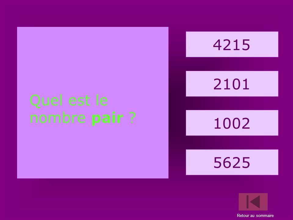 9. araignée 12365 13647 10124 32659 Quel est le nombre pair ?