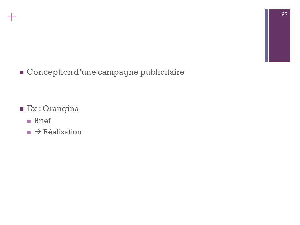 + La création publicitaire Le processus de création Créatifs Copywriter Qualités de création? 96