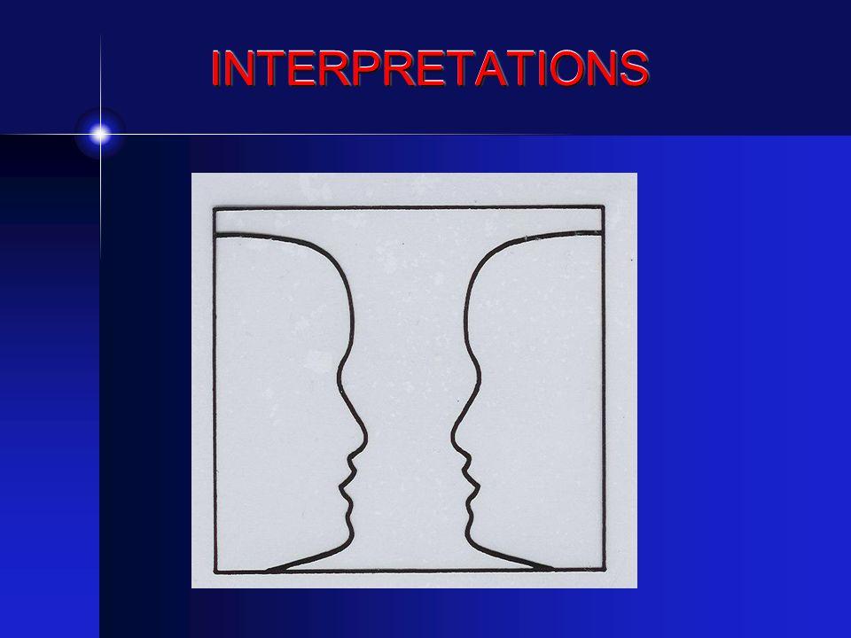 INTERPRETATIONSINTERPRETATIONS