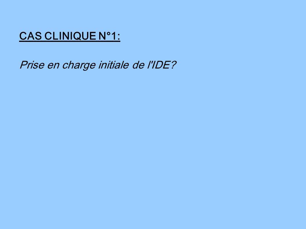 CAS CLINIQUE N°1: Prise en charge initiale de l'IDE?