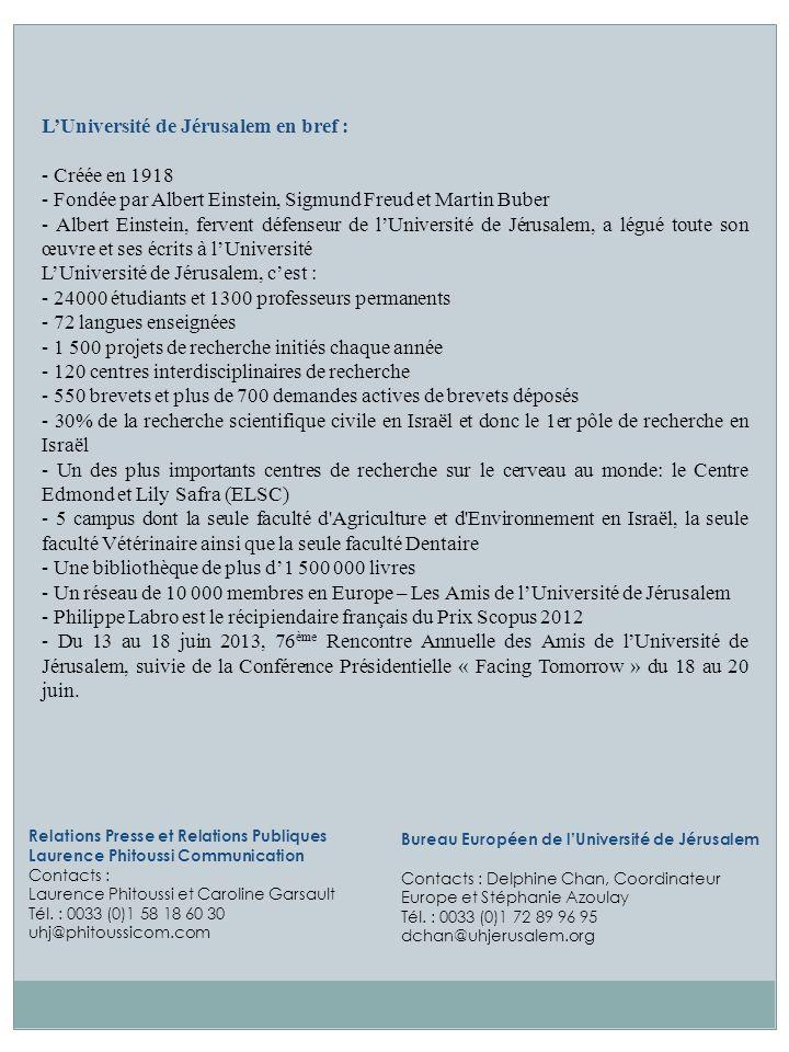 Relations Presse et Relations Publiques Laurence Phitoussi Communication Contacts : Laurence Phitoussi et Caroline Garsault Tél. : 0033 (0)1 58 18 60