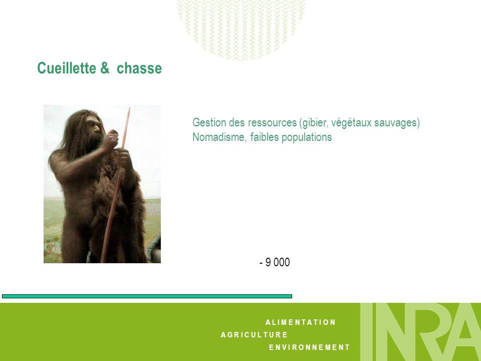 A L I M E N T A T I O N A G R I C U L T U R E E N V I R O N N E M E N T Cueillette & chasse - 9 000 Gestion des ressources (gibier, végétaux sauvages)