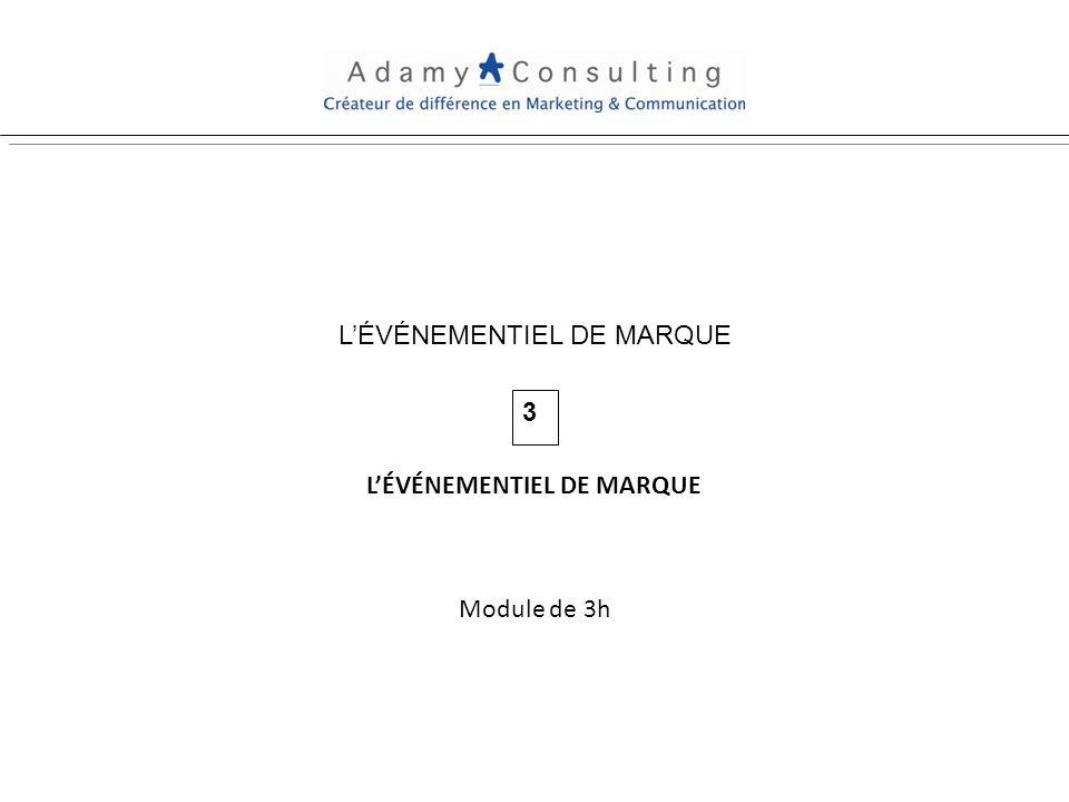LÉVÉNEMENTIEL DE MARQUE 3 Module de 3h