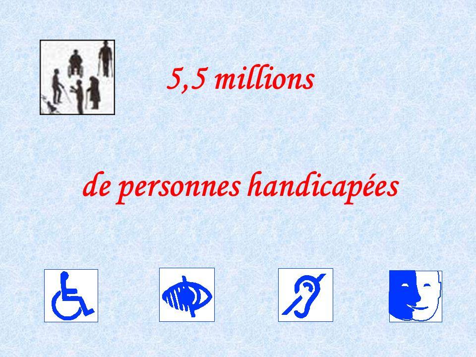 5,5 millions de personnes handicapées