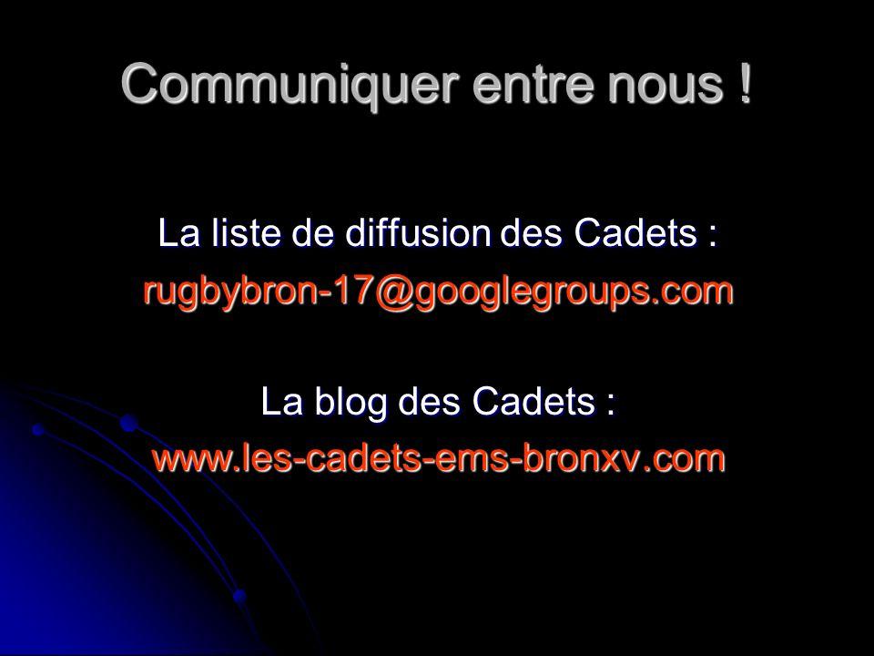 ENCADREMENT DES CADETS EMS Bron XV – RC Moins – Rhône Sportif Rugby Saison 2009 - 2010 Soigneur : Monsieur Paul MORI Médecin : Docteur Jean-Claude JOS