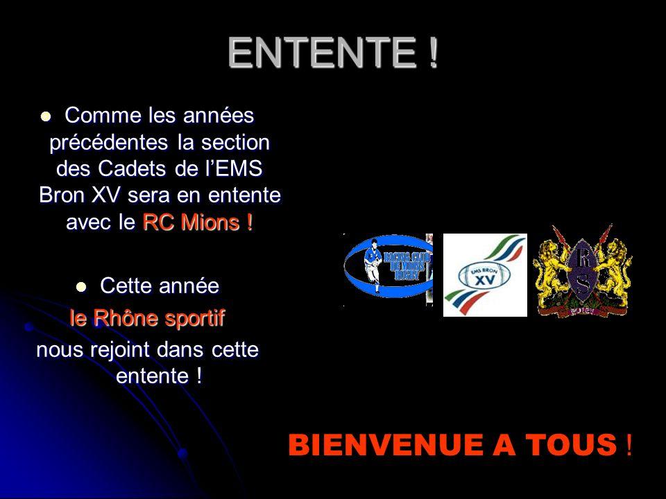 EMS BRON XV Saison 2009 - 2010 Section des Cadets (Moins de 17 ans)