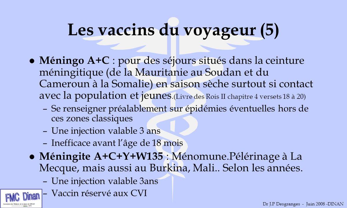 Les vaccins du voyageur (5) l Méningo A+C : pour des séjours situés dans la ceinture méningitique (de la Mauritanie au Soudan et du Cameroun à la Soma