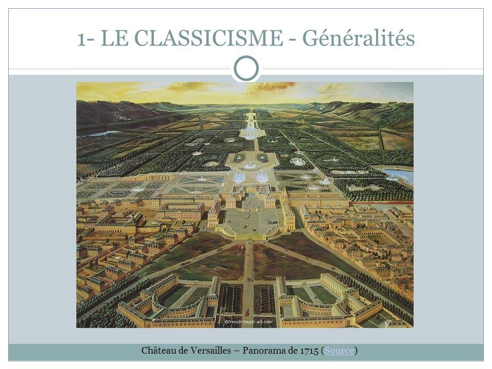 1- LE CLASSICISME - Généralités Château de Versailles – Panorama de 1715 (Source)Source