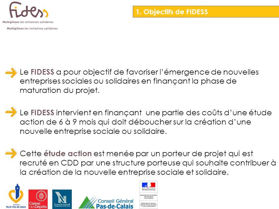 Le FIDESS a pour objectif de favoriser lémergence de nouvelles entreprises sociales ou solidaires en finançant la phase de maturation du projet. Le FI
