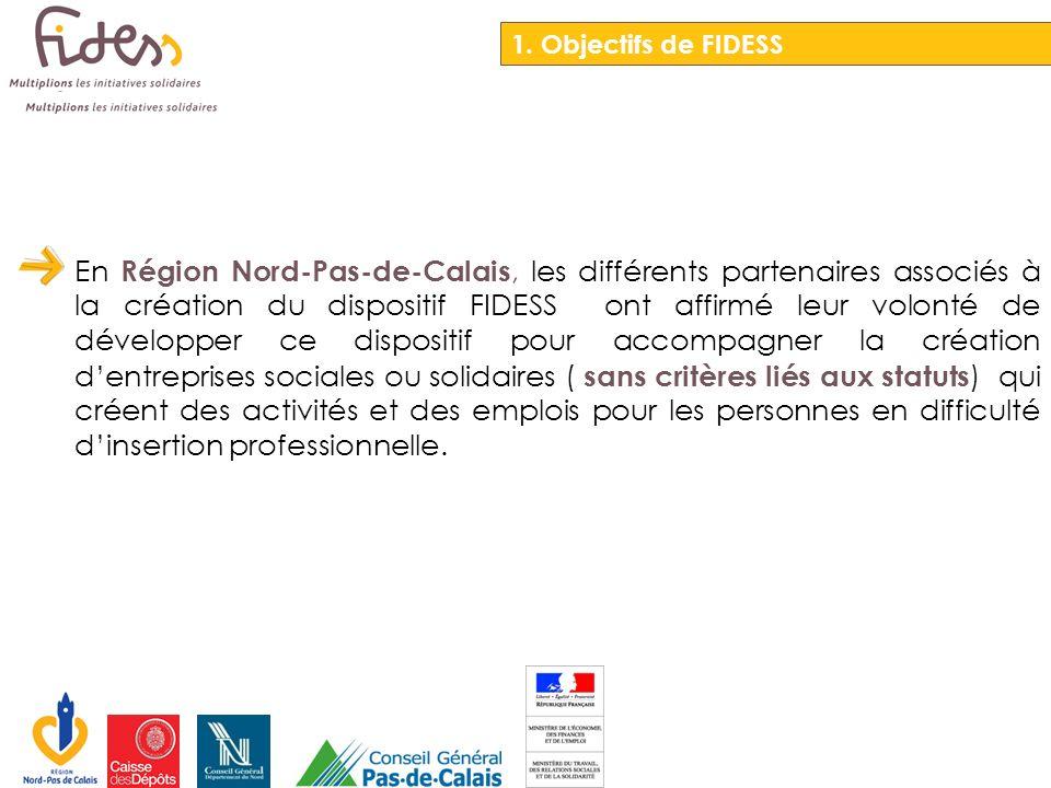 Cette orientation Régionale du dispositif FIDESS reprend des acteurs de léconomie classique, de léconomie sociale et solidaire.