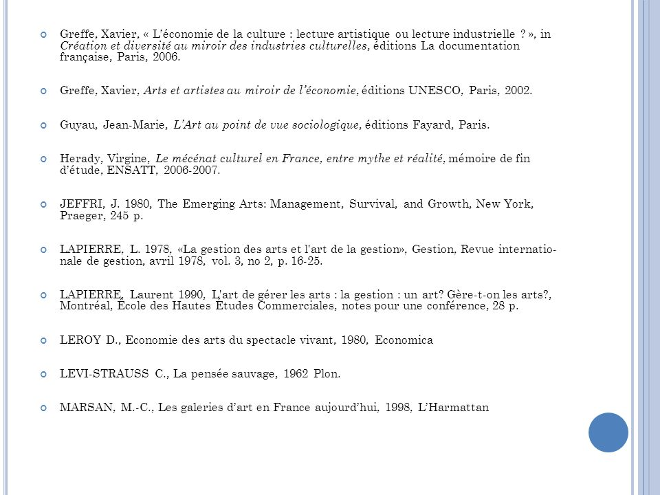 MICHAUD Y., Lart contemporain, 1998, La Documentation Française MOLLARD, C.