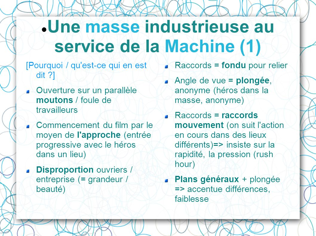 Une masse industrieuse au service de la Machine (1) [Pourquoi / qu'est-ce qui en est dit ?] Ouverture sur un parallèle moutons / foule de travailleurs