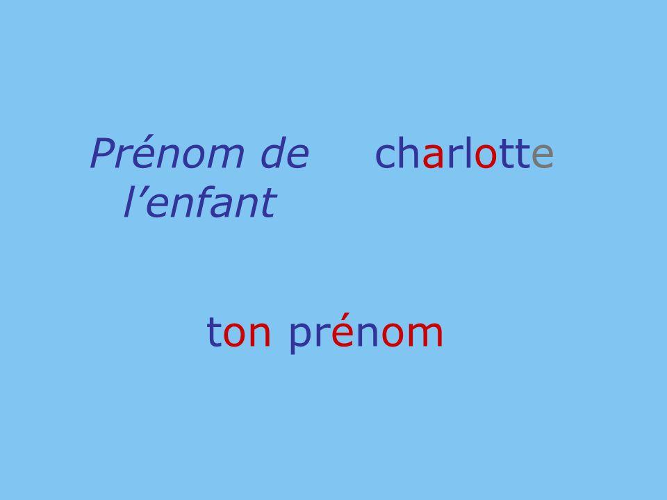 ton prénom Prénom de lenfant charlotte