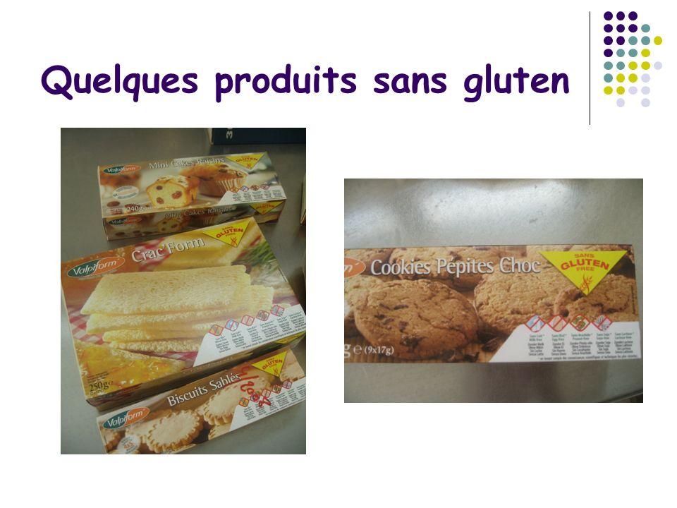 Quelques produits sans gluten