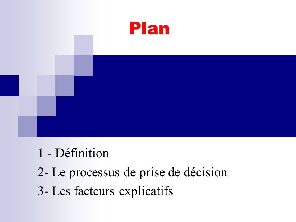 comportement du consommateur S.Mayol42 SECTION 5 - LE PROCESSUS DACHAT 5.1.