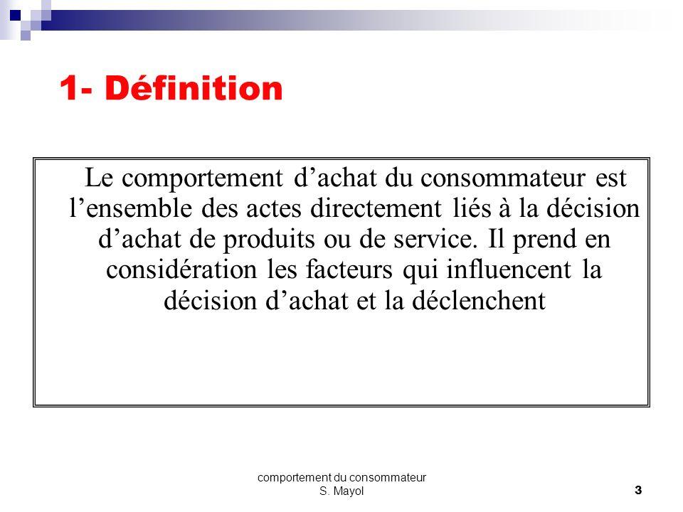 Plan 1 - Définition 2- Le processus de prise de décision 3- Les facteurs explicatifs