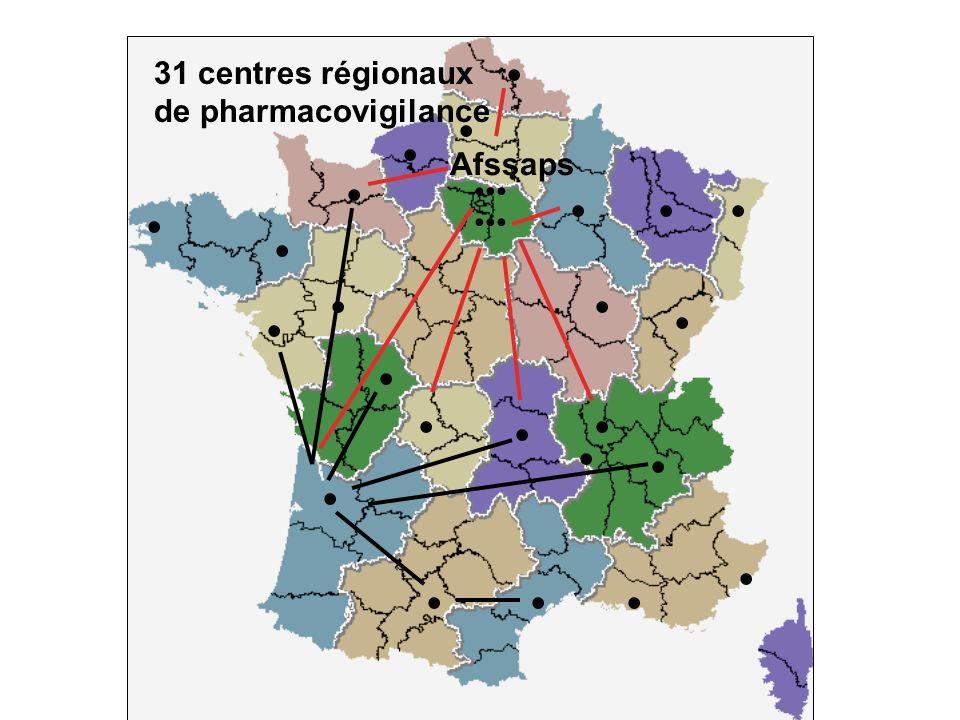 31 centres régionaux de pharmacovigilance Afssaps