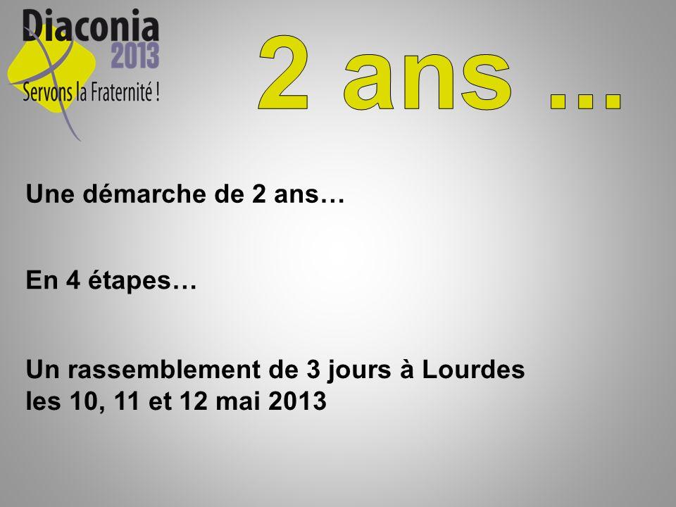 Une démarche de 2 ans… En 4 étapes… Un rassemblement de 3 jours à Lourdes les 10, 11 et 12 mai 2013