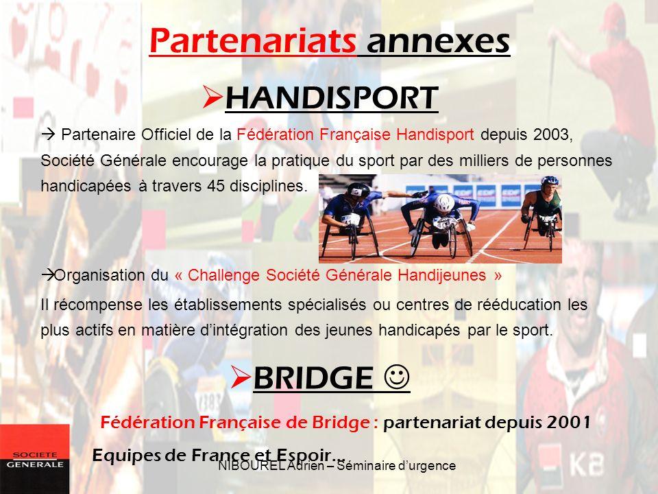 NIBOUREL Adrien – Séminaire durgence Partenaire Officiel de la Fédération Française Handisport depuis 2003, Société Générale encourage la pratique du