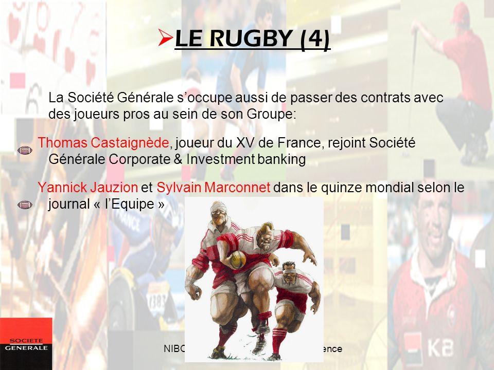 NIBOUREL Adrien – Séminaire durgence La Société Générale soccupe aussi de passer des contrats avec des joueurs pros au sein de son Groupe: Thomas Cast