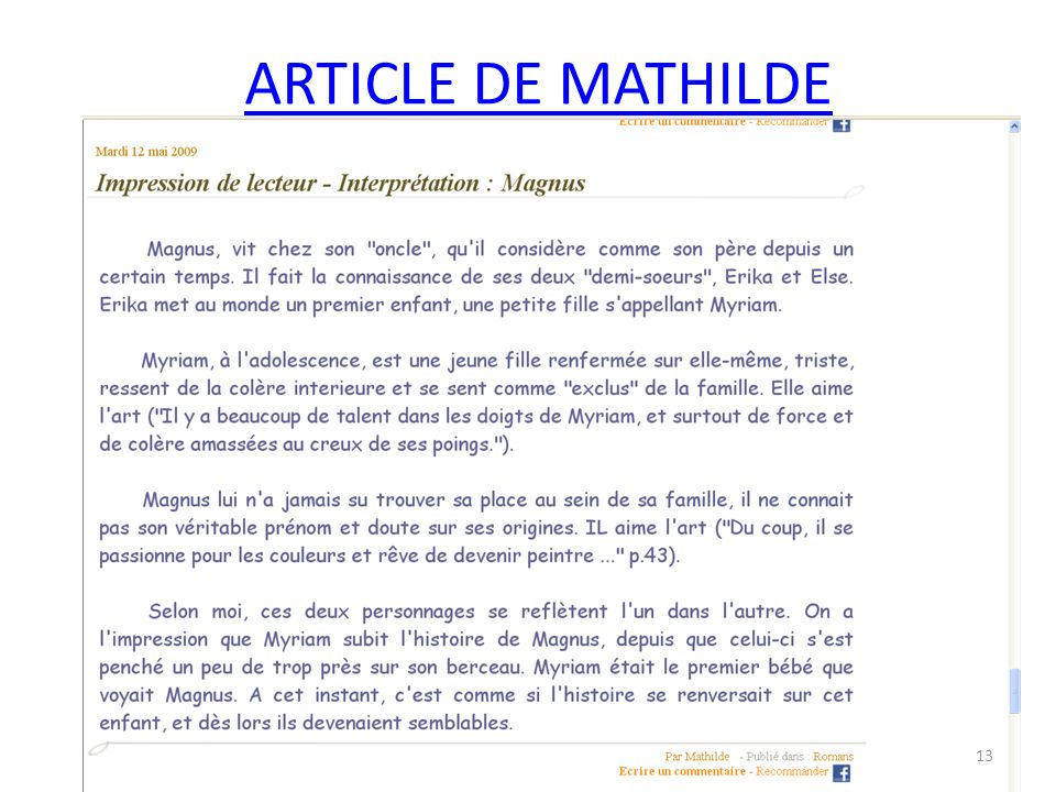 ARTICLE DE MATHILDE 13