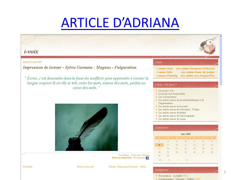 ARTICLE DE MATHILDE 13