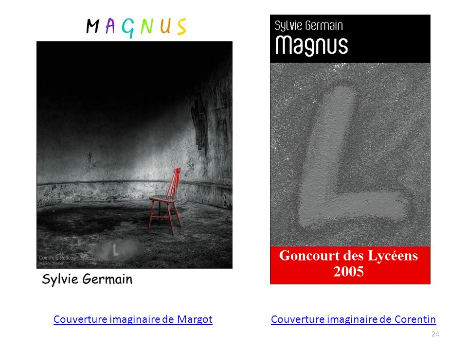 Couverture imaginaire de MargotCouverture imaginaire de Corentin 24