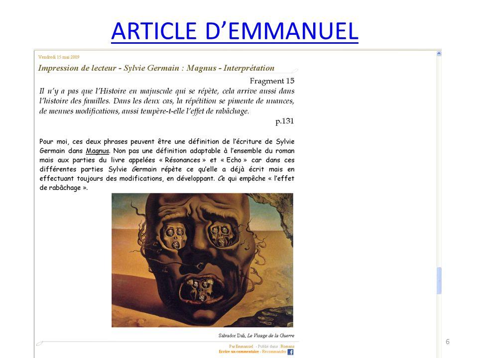 Article de Marianne 7