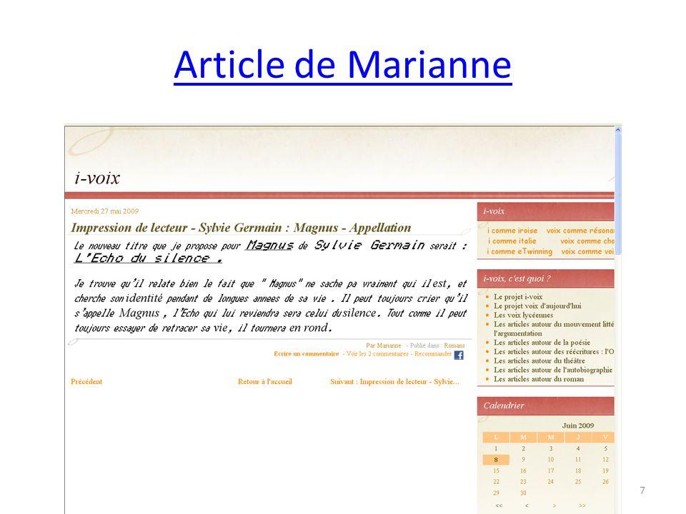 ARTICLE DE RACHELLE 28
