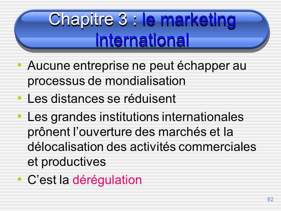 91 Chapitre 3 Le marketing international