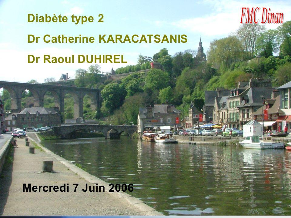 Diabète type 2 Dr Catherine KARACATSANIS Dr Raoul DUHIREL Mercredi 7 Juin 2006