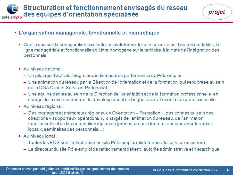 17 Pôle emploi Centre Fiches des instances Version Codir du 9 janvier 2009 17 Document couvert par lobligation de confidentialité par les représentant