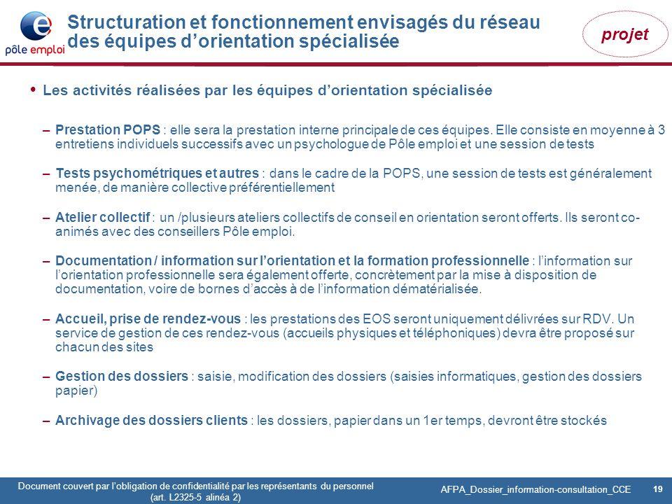 19 Pôle emploi Centre Fiches des instances Version Codir du 9 janvier 2009 19 Document couvert par lobligation de confidentialité par les représentant