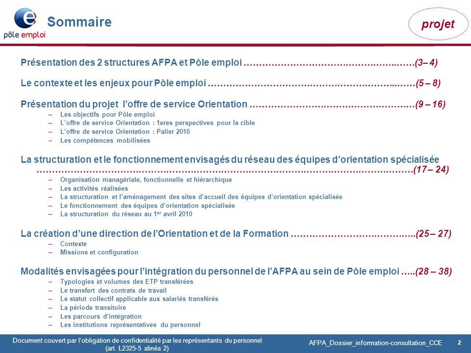 2 Pôle emploi Centre Fiches des instances Version Codir du 9 janvier 2009 2 Document couvert par lobligation de confidentialité par les représentants