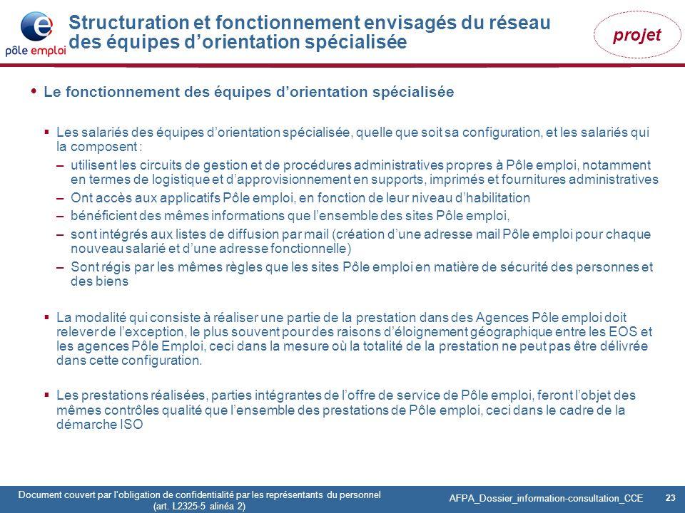 23 Pôle emploi Centre Fiches des instances Version Codir du 9 janvier 2009 23 Document couvert par lobligation de confidentialité par les représentant