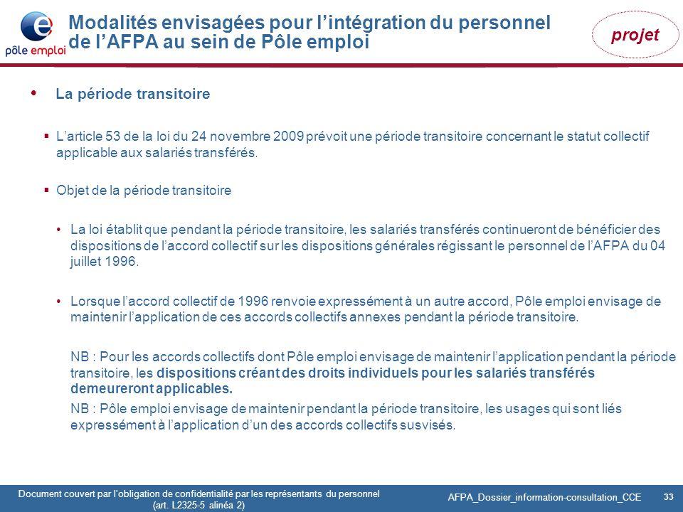 33 Pôle emploi Centre Fiches des instances Version Codir du 9 janvier 2009 33 Document couvert par lobligation de confidentialité par les représentant