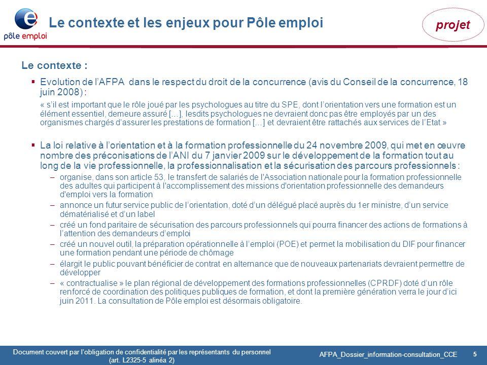 5 Pôle emploi Centre Fiches des instances Version Codir du 9 janvier 2009 5 Document couvert par lobligation de confidentialité par les représentants