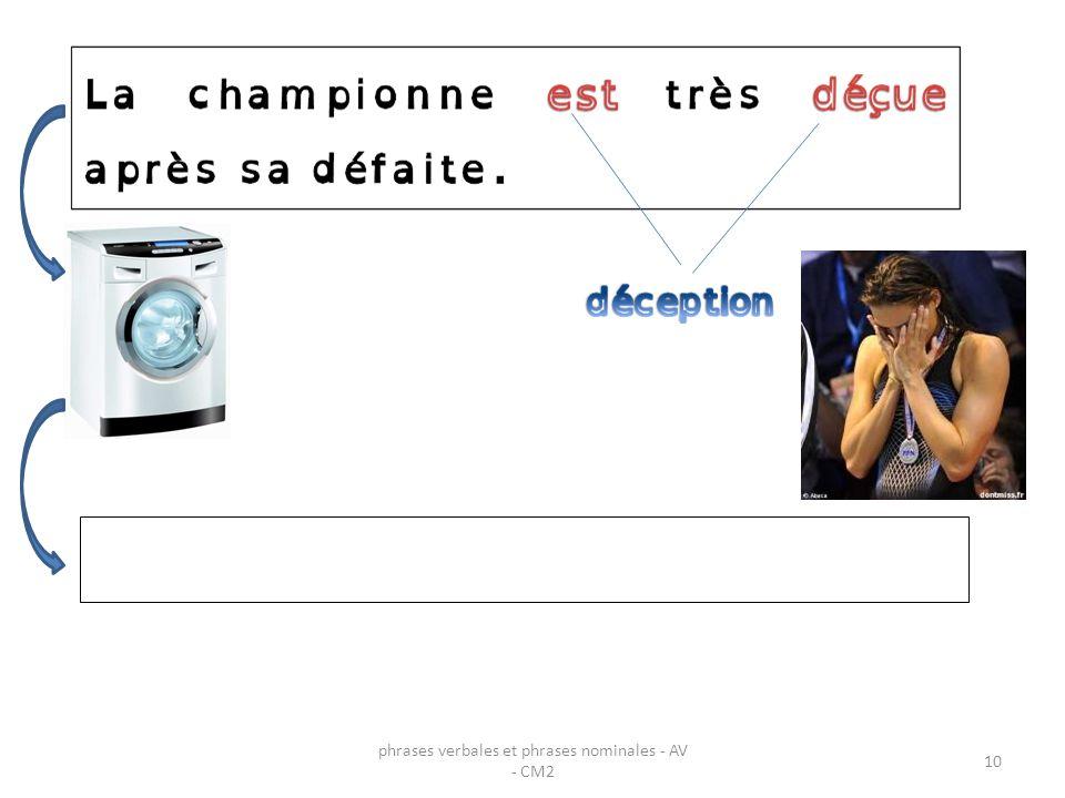 10 phrases verbales et phrases nominales - AV - CM2