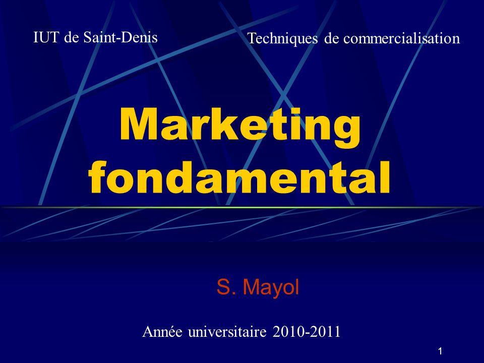 32 4 - Le marché et son environnement 1 - Notions 2 - Structure