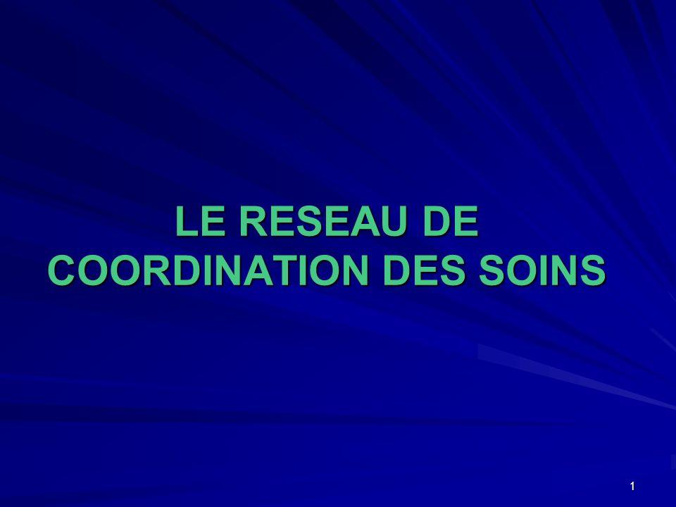 1 LE RESEAU DE COORDINATION DES SOINS