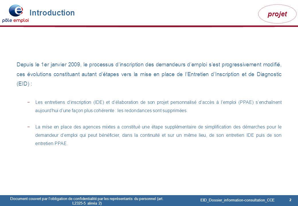 2 Pôle emploi Centre Fiches des instances Version Codir du 9 janvier 2009 2 Document couvert par lobligation de confidentialité par les représentants du personnel (art.