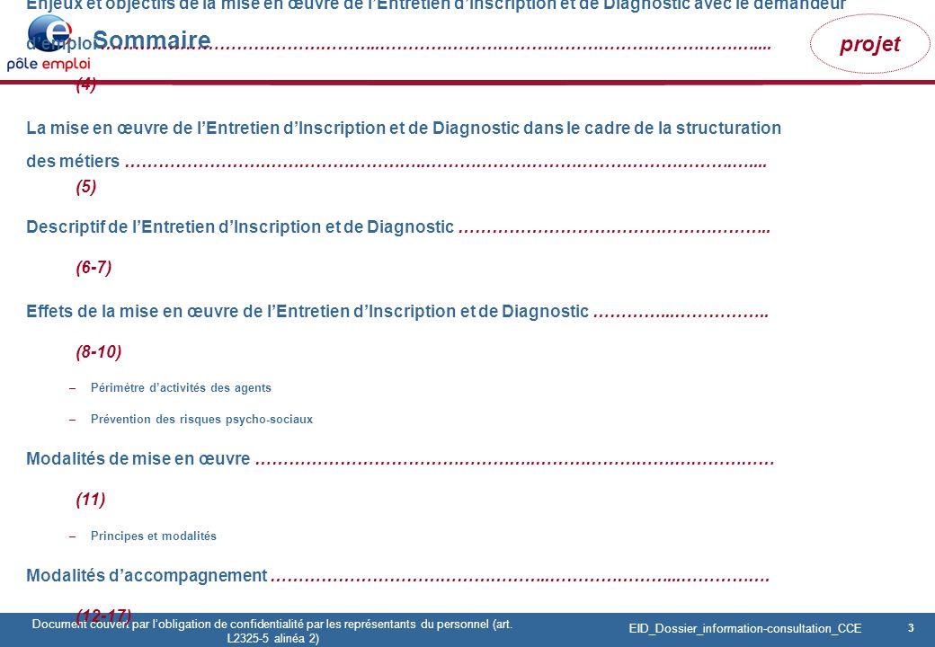3 Pôle emploi Centre Fiches des instances Version Codir du 9 janvier 2009 3 Document couvert par lobligation de confidentialité par les représentants du personnel (art.