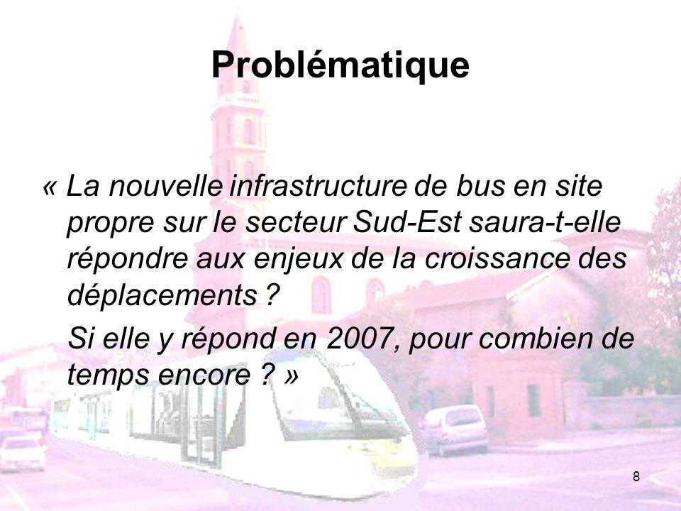 8 Problématique « La nouvelle infrastructure de bus en site propre sur le secteur Sud-Est saura-t-elle répondre aux enjeux de la croissance des déplac