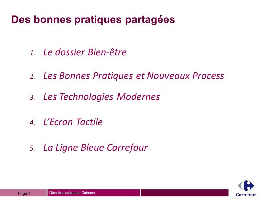 Direction nationale Caisses Des bonnes pratiques partagées 1.
