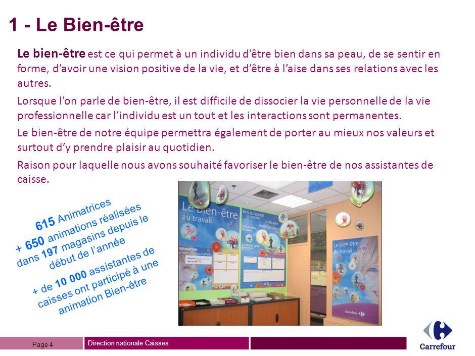 Direction nationale Caisses BILAN / DISPOSITIF « Selon vous, avec ce nouveau dispositif, Carrefour va-t-il améliorer son image.