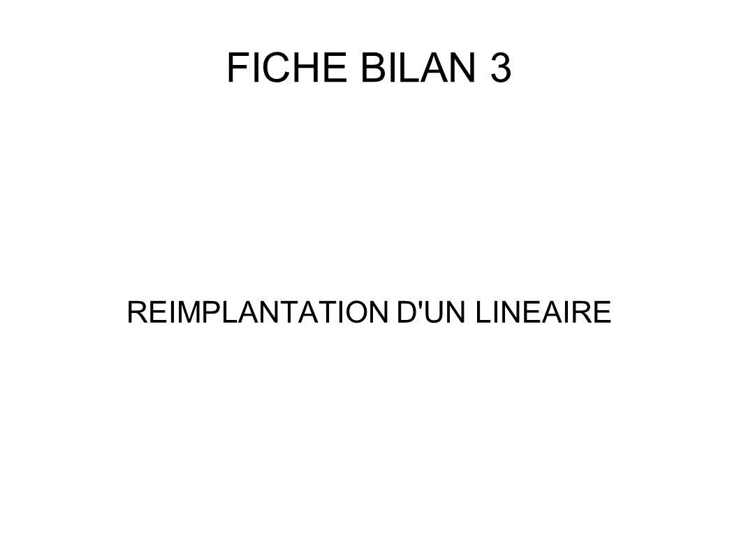 FICHE BILAN 3 REIMPLANTATION D'UN LINEAIRE