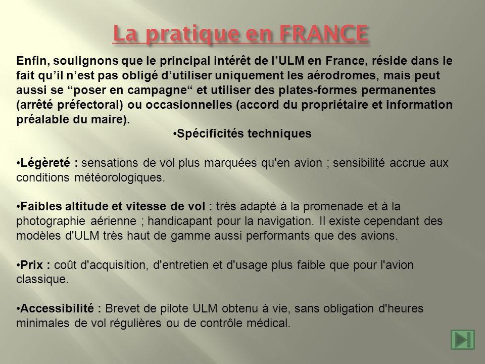 La pratique en FRANCE La pratique en FRANCE Enfin, soulignons que le principal intérêt de lULM en France, réside dans le fait quil nest pas obligé dut