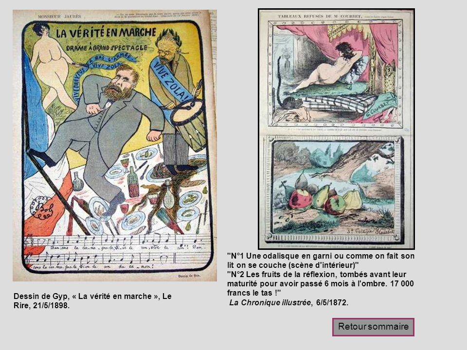 Dessin de Gyp, « La vérité en marche », Le Rire, 21/5/1898.