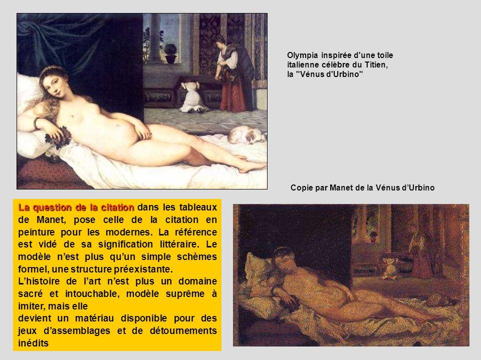 Olympia inspirée d'une toile italienne célèbre du Titien, la